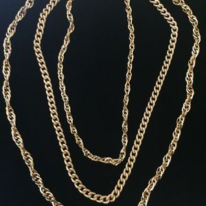 Multi strand goldstone chain necklace